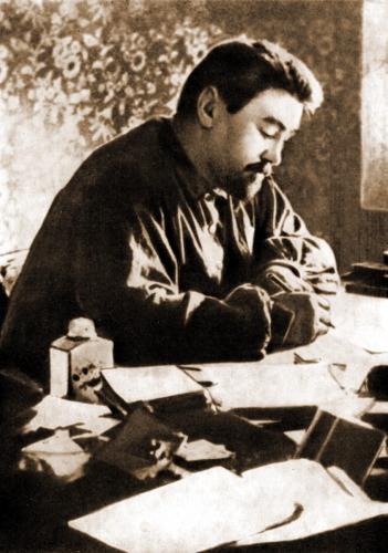 Александр Куприн за работой