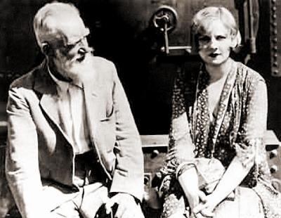 Бернард Шоу с Шарлоттой Пейн-Таунзенд