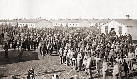 Заключенные концлагеря «Дуглас», 1863