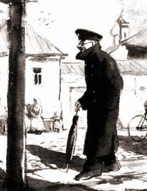 Иллюстрация к рассказу А. Чехова «Человек в футляре»