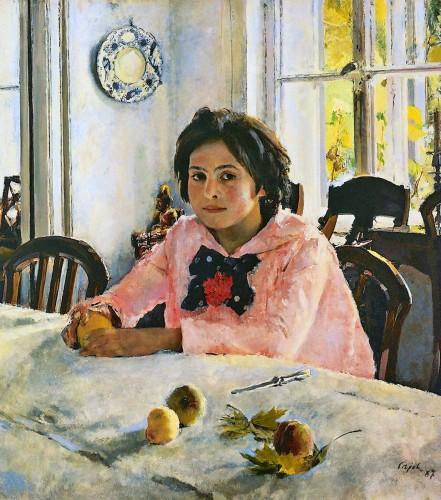 Валентин Серов. Девочка с персиками