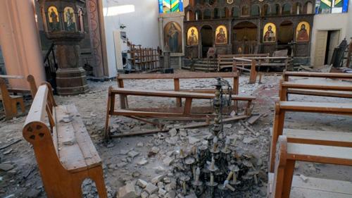 Оскверненная церковь в Сирии