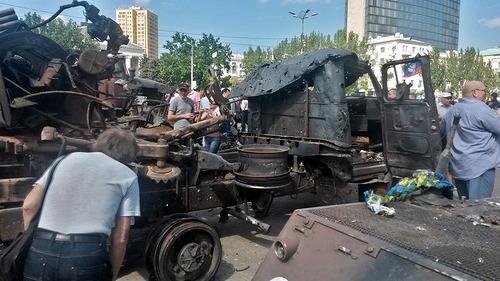 Подбитая украинская техника
