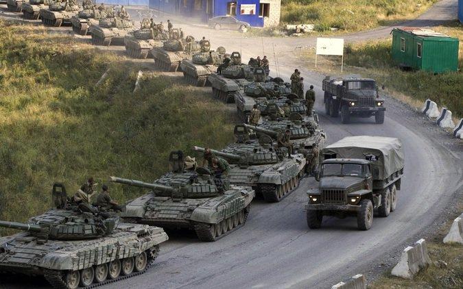 Российские военные в Грузии. Фото 2008 г.