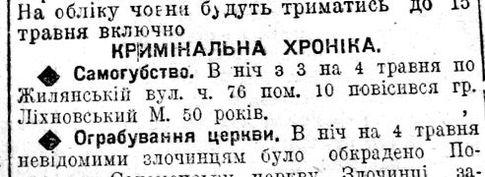 Отклики. Киевские газеты 1924 года, в которые попал Михновский