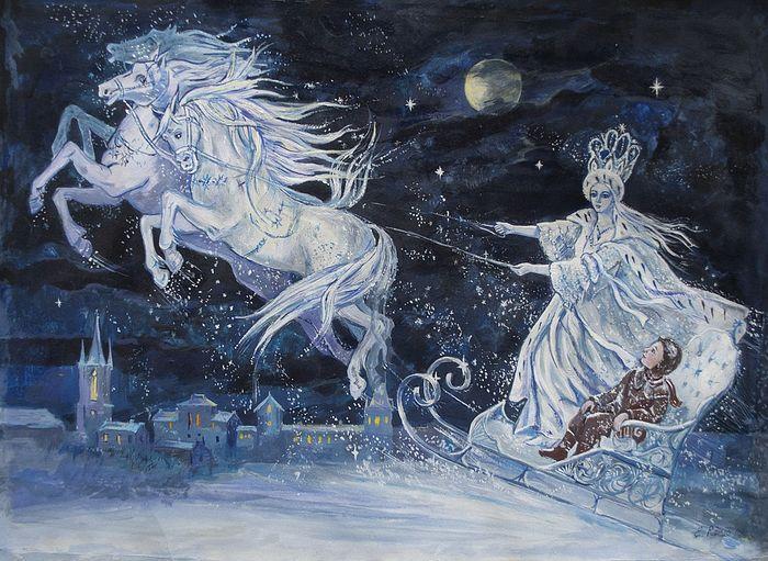 Снежная Королева, художник Елена Ринго