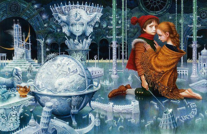 Иллюстрация к сказке «Снежная королева»