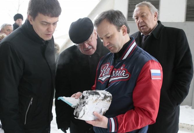 Вице-премьер РФ Аркадий Дворкович и президент РАН Владимир Фортов