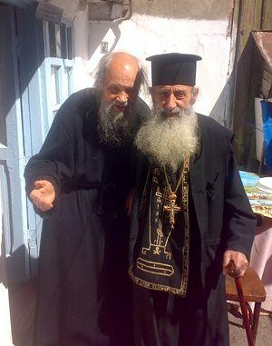 Архимандрит Филарет (Кудинов) и схиархимандрит Савва (Петриди)