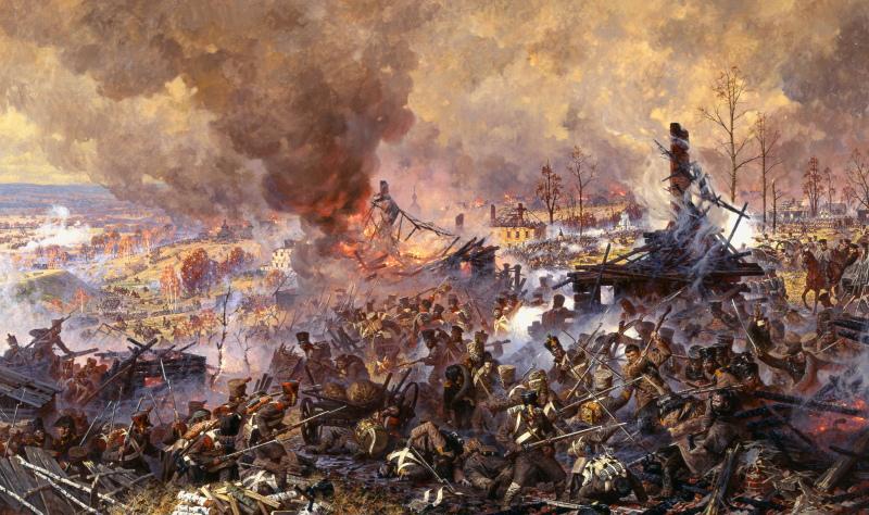 А.Аверьянов. Сражение за Малоярославец 12 (24) октября 1812 года