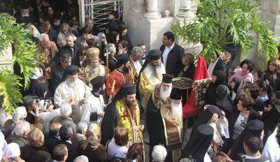 Лития с иконой и мощами св. Филумена в день его прославления