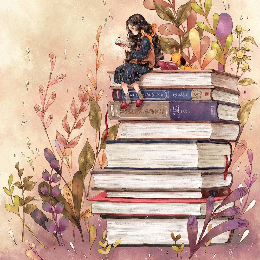 Картинки на тему чтение книг