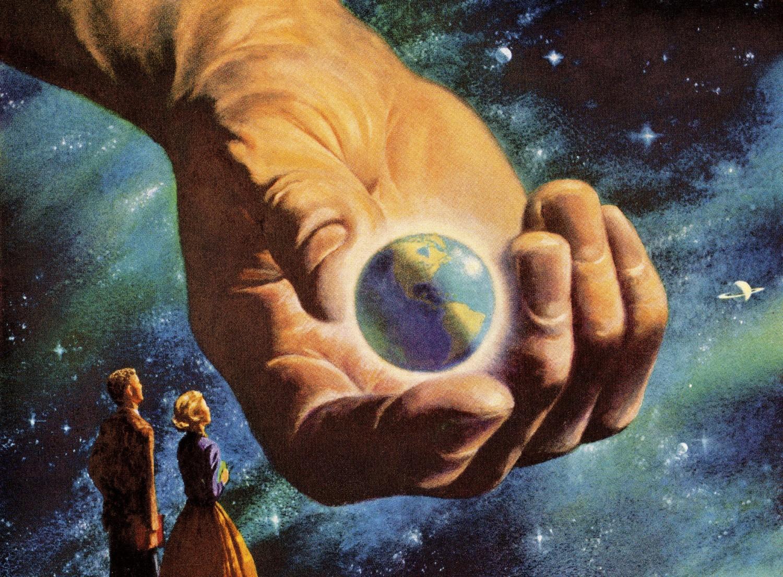 Бог сотворил мир картинка