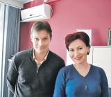 Один из основателей «Отпора» Срджа Попович с Дарьей Асламовой