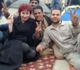 Дарья Асламова — среди египетских революционеров на площади Тахрир