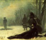 Адриан Волков — Последний выстрел А. С. Пушкина. 1869 г.