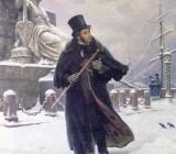 """Б.В. Щербаков. """"Пушкин в Петербурге"""". 1949 г."""