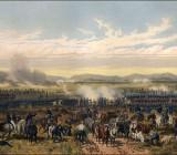 Битва при Пало-Альто, первое крупное сражение американо-мексиканской войны (худ.