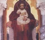 Богоматерь с младенцем. Образ в иконостасе Кирилловской церкви в Киеве. 1885