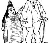 Честертон и королева Виктория. Рисунок писателя