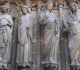 Собор Реймской Богоматери (Франция). Крайний с лева Ангел Реймса улыбается
