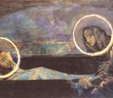 Надгробный плач, второй вариант. Акварель, 1887