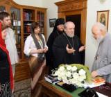 Вручение Митрополиту Владимиру удостоверения почетного члена клуба «Омилия»