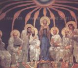 Сошествие Святого Духа на апостолов. Стенная роспись Кирилловской церкви в Киеве. 1884