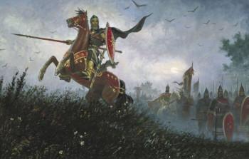 Пересвет на поле Куликовом. Б. Ольшанский