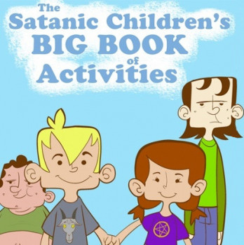 Большая сатанинская книга занятий для детей