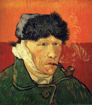 Ван Гог. Автопортрет с трубкой. 1889 г.