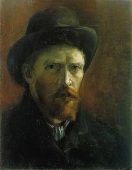 Ван Гог. Автопортрет в темной фетровой шляпе. Париж, 1886