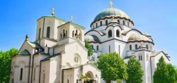 Храм Святого Саввы построен на месте, где оттоманскими властями были сожжены мощи Святого.