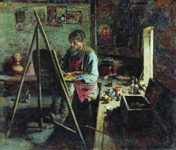 Абрам Архипов. Деревенский иконописец, 1889