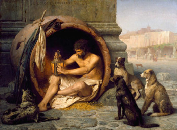 Диоген в своей бочке. Картина Ж. Л. Жерома, 1860