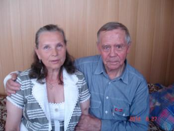 Галина Минеева и Валентин Распутин. Иркутская больница, 2012