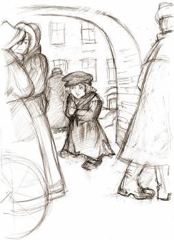 Мальчик у Христа на елке. Рис. Тамары Твердохлеб