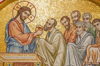 Евхаристия. Мозаика храма Покрова Божией Матери в Ясенево