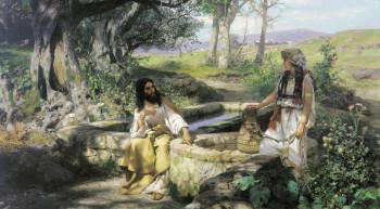 Христос и Самарянка. Семирадский Генрих Ипполитович. 1890.