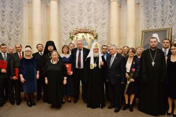 Патриарх Кирилл вручил награды лауреатам Макариевской премии