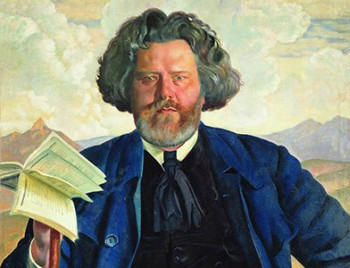 Максимилиан Волошин. Б.М. Кустодиев, 1924 г.