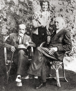 Мережковский, Гиппиус и Иванов на вилле Мережковских