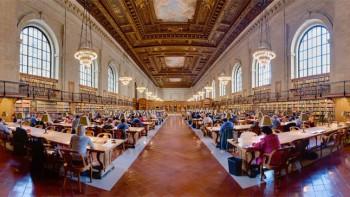 Читальный зал Нью-Йоркской публичной библиотеки