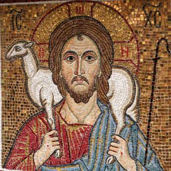 Пастырь добрый (мозаика Христа Спасителя с овцой на плечах) Бутырская тюрьма храм Покрова Богородицы