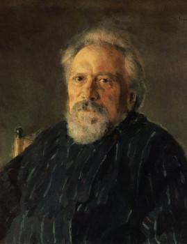 Портрет Николая Лескова (1831—1895) работы Валентина Серова, 1894 год.