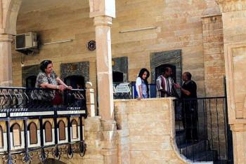 Беженцы в монастыре св. Матфея