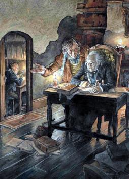 Иллюстрация к «Рождественской песни» Диккенса
