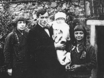 Семья после рождения сына Георгия, Вшеноpы 1925