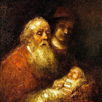 Сретение. Художник Рембрандт Харменс ван Рейн, 1669 г.