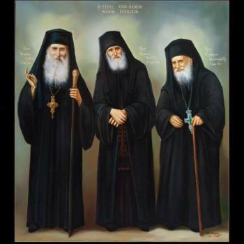 Старцы Иаков Эвбейский, Паисий Святогорец и Порфирий Кавсокаливит